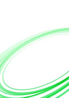 シンプルな曲線背景 グリーン