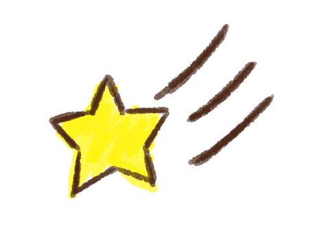 Crayon series [shooting star]
