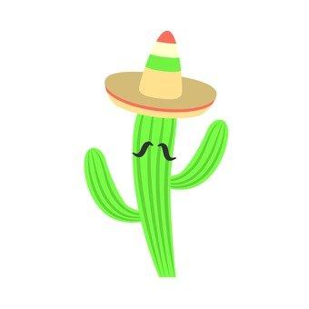 A cheerful cactus