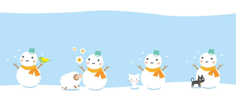 雪人和朋友