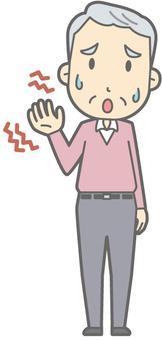 Elderly man C - numbness - whole body