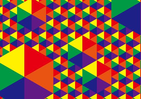 幾何学模様(六角形大小)