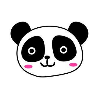 Panda's face