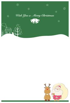 クリスマスカード・緑
