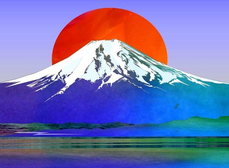 Fuji and the sun