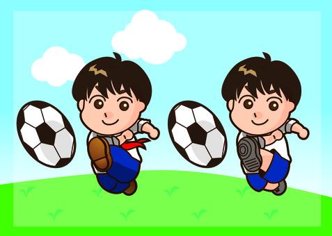 Soccer boy, soccer youth