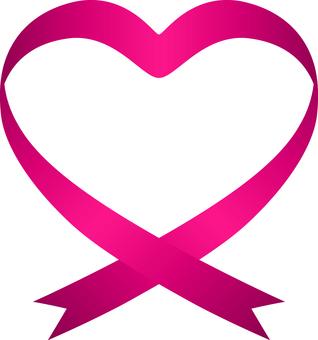 Heart _ Ribbon _ Pink