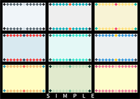 Card design: Simple