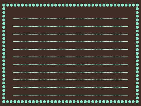 Simple memo pad chocolate mint