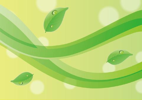 Illustration of image of green wave