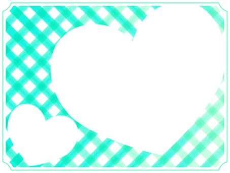 Check and heart frame 4 green