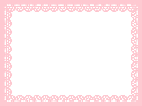 Lace frame <Pink type>
