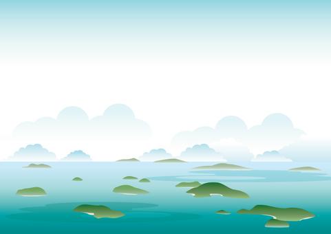 Sea and island frame