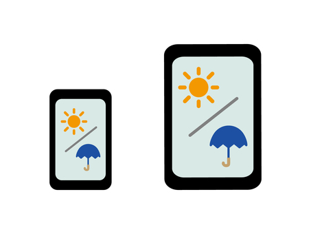 Weather app smartphone and tablet