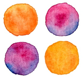 Halloween color watercolor dot