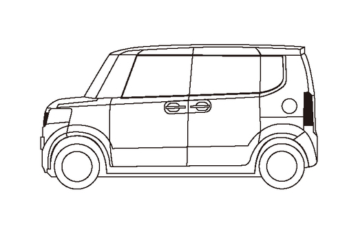 Light car (line drawing) wagon