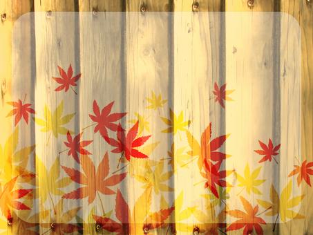 Wood grain autumn leaves background 160901