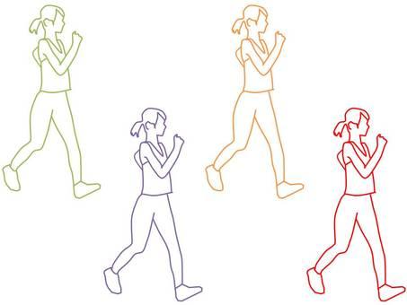 Women walking 2