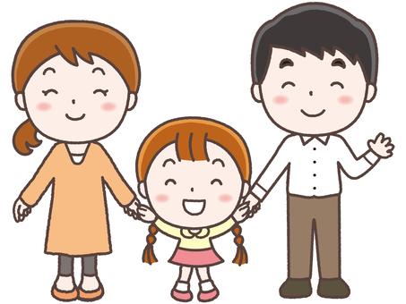 3-person family