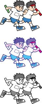 Illustration of sports festival (relay)