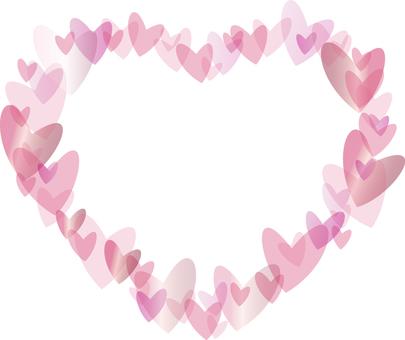 Heart-filled heart frame