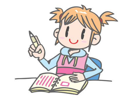 A girl writing a diary