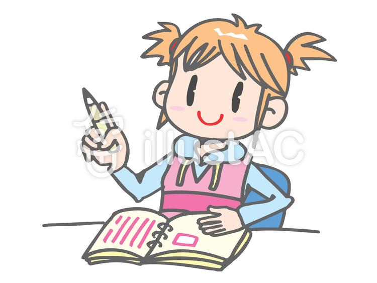 日記を書く女の子イラスト No 7601無料イラストならイラストac