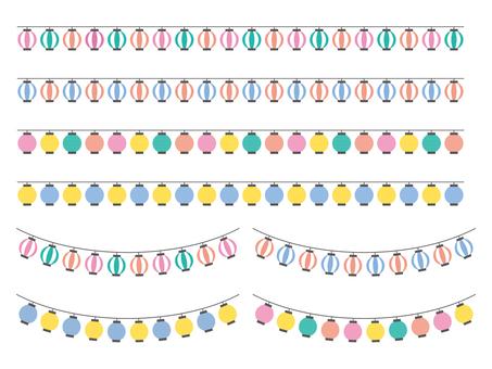 Colorful lanterns line