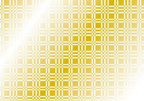 Gold foil plaid white