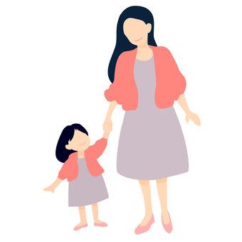 母親和女兒