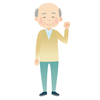 A healthy old man
