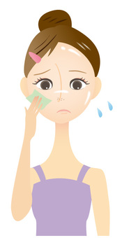 Women with oily skin anxious about pores