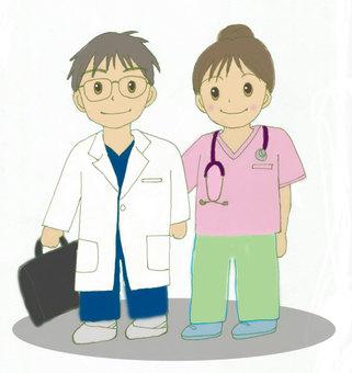 訪問看護師と医者