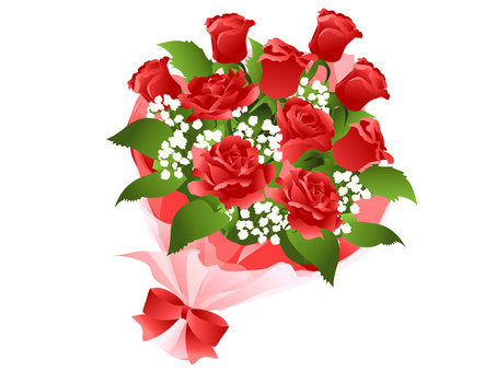 A red flower bouquet