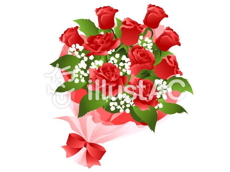 赤いバラの花束イラスト No 272682無料イラストならイラストac