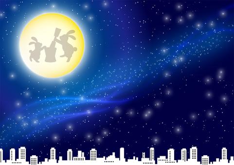 Moon night background
