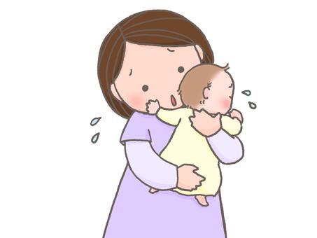 질질 끄는 아기
