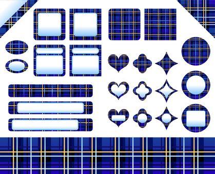 Tartan check set (blue)
