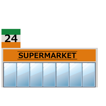 Convenience store supermarket illustration