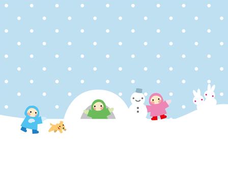 Winter snow play