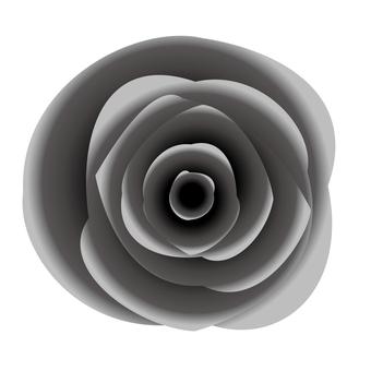 リアルな黒バラアイコン素材