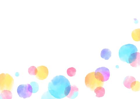 Polka dot frame (rgb)