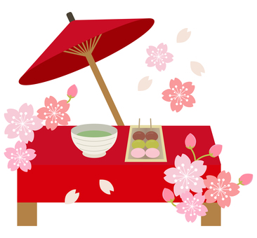 Spring _ Ohanami _ banner _ cute illustrations
