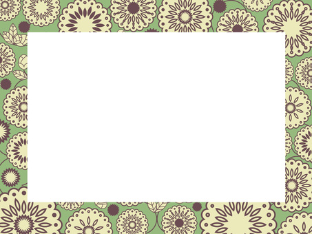 植物圖案框架30