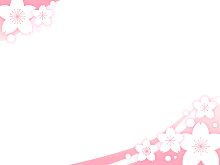 Cherry blossom decorative frame 10