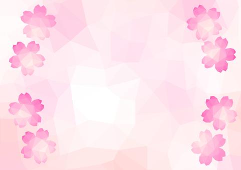 Mosaic Triangle Cherry background