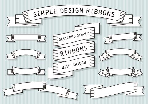 Simple line ribbon