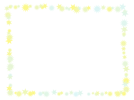 Simple star frame (yellow)