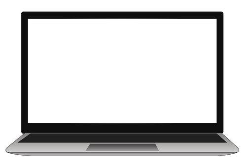 筆記本屏幕為白色