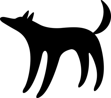 2018 New Year's card dog silhouette
